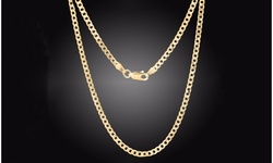 14K Gold 3MM Curb Chains by Simply.925