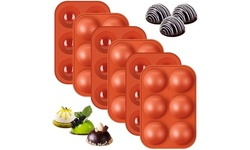 Silicone Molds, Hot Chocolate Bomb Mold, 6 cavity Half Sphere cocoa Bomb Mold