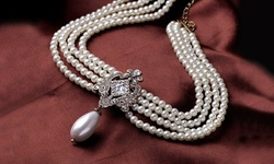 1, 2, or 3 Elite Brooch-Styled Multi-Layered Beaded Necklaces w/ Free Shipping from Novadab (Up to 80% Off)