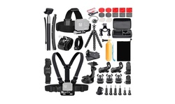 Koah 50-In-1 Action Camera Accessory Kit (Compatible with GoPro)
