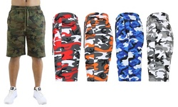 Men's French Terry Camo Printed Lounge Shorts (Sizes, S-2XL)