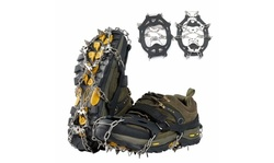 Crampons Ice Cleats Traction Snow Grips for Boots Shoes Anti Slip with 19 Spikes