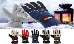 Men's Thermal-Insulated Warm Fleece Gloves (3-Pairs)