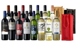 15-Bottle Curated Wine Packs with Gift Bags from Splash Wines (Up to 79% Off)
