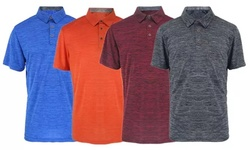 LeeHanTon Men's Soft Marled Jersey Polo