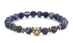 Men's Natural Stone Chakra Bracelet by Akor