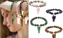 Unisex Natural Healing Sodalite Gemstone Stretch Bracelet