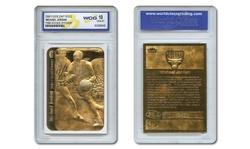 Michael Jordan Fleer Sticker Rookie 23KT Gold Card Graded Gem Mint 10