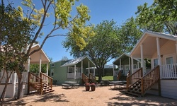 Stay at Hill Country Cottage and RV Resort in New Braunfels, TX