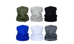 6 Pieces Summer Face Mask UV Protection Neck Gaiter Scarf Sunscreen