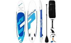 10ft Inflatable Stand Up Paddle Board 6'' Thick W/ Aluminum Paddle Carry Bag
