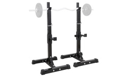 ZENY Pair of Adjustable Squat Stands Barbell Rack Bench Press for Home Gym