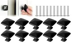 10Pcs/Set Kitchen Cabinet Hardware Square Knobs
