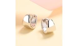 Sterling Silver Solid Huggie Earring