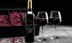 Custom Etched Infinity Symbol Bottle of Wine or Set from EtchedWine.com (Up to 58% Off). Four Options Available.