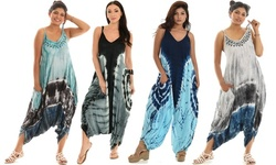 Women's Jumpsuit With Tie Dye also in plus size