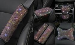 Universal Sparkle Luxury Bling Rhinestone Diamond Car Interior Accessories Decor