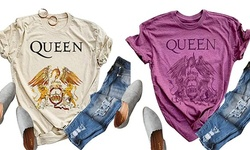 Women Rock Queen Band Fashion Graphic Music Shirts Short Sleeve Graphic Tees