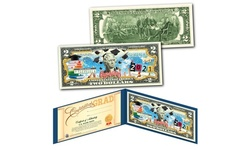 Happy Graduation 2021 Genuine Two-Dollar Bill with Diploma Style Certificate