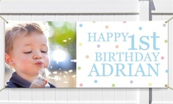 Personalized Canvas Birthday Banner from GiftsForYouNow.com (67% Off)