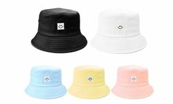 Smiling Face Bucket Hats Outdoor Sun Shade Fisherman Hats Smile Square Robot Hat