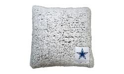 Logo Brands NFL Frosty Sherpa Throw Pillow