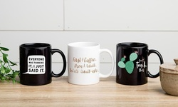 """One, Two, Three, Five, or 10 Personalized """"Just Sayin"""" Mugs from Qualtry (Up to 82% Off)"""