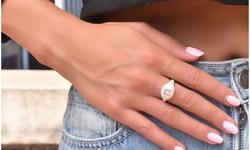 Crystal Signet Rings in Sterling Silver