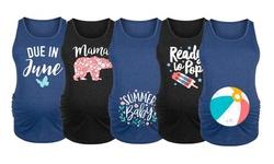 Women's Maternity Summer Baby T-Shirt Tank Top