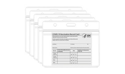 5-Pack: Waterproof Clear Sleeve CDC Vaccination Card Immunization Record Holder