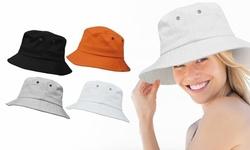 Bucket Hat Simple Solid Color Fisherman Cap Packable Reversible Sun Hat