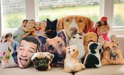 Personalized Cut Out Photo Throw Pillow from Monogram Online (Up to 50% Off). Two Options Available.