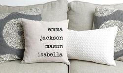 Personalized Family Name Throw Pillow Covers from Qualtry (Up to 72% Off). Four Options Available.