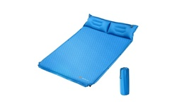 Goplus Self-Inflating Camping Mat Outdoor Sleeping Pad W/Pillows Bag for Camping