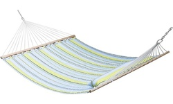 ZENY Double Hammock Quilted Fabric Hammock with Pillow for 2 Person