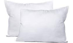 2 Pack of Queen Sized Super Plush Gel-Fiber Filled Pillows
