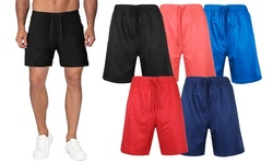"""Men's 7"""" Performance Active Workout Training Shorts With Mesh Lining"""