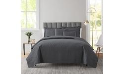 Clara Clark Bedspread Quilt Set - Grid Weave Pinsonic Lightweight Coverlet Set