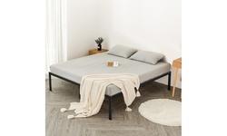 "Costway 14"" Full/Queen Metal Platform Bed Frame Steel Slat Mattress Foundation"
