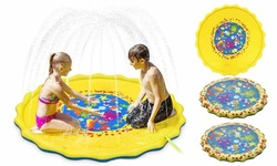 Sprinkle & Splash Play Mat Outdoor Water Toys Wading Pool Splash Pad