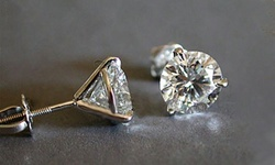 Leo Rosi Luxury Moissanite Screw Earrings in Sterling Silver