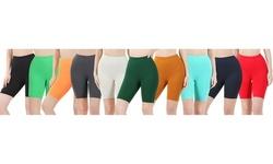 Women's Buttery Soft Brushed Microfiber Biker Shorts