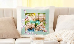 """Personalized 14""""x14"""" Cushion Covers from Printerpix (Up to 83% Off). Four Options Available."""
