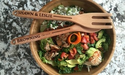 Personalized Decorative Wooden Spoon and Fork Set (Up to 87% Off)