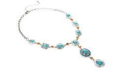 One, Two, or Three Turquoise Citrine Iced Water Drop Necklaces (Up to 86% Off)