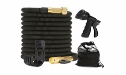 Expandable Garden Watering Hoses with Spray Nozzle Extra Strength Fabric