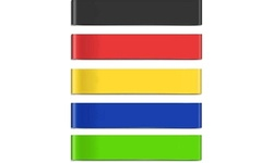 5 Pack Exercise Resistance Stretch Bands - Multiple Intensity Levels