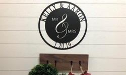 Personalized Metal Mr. & Mrs. Date Sign from Metal Unlimited