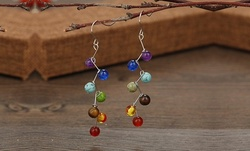 One, Two, Three, or Five Pairs of Jazzy Healing Stones Hanging Earrings from Novadab (Up to 73%)