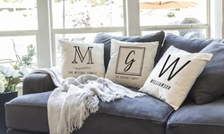 Personalized Monogram Throw-Pillow Covers from Qualtry (Up to 72% Off)